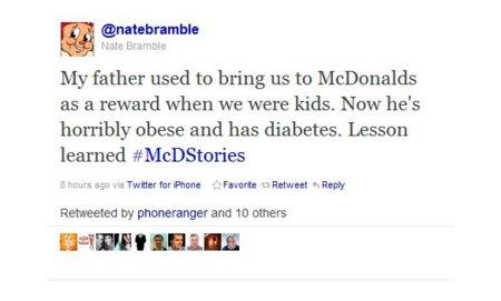 McDonalds y #McDStories, la campaña de Twitter que salió mal