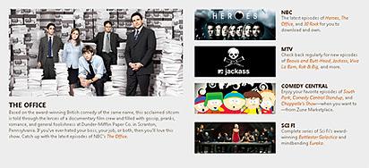 Microsoft ofrecerá las series de la NBC para descargar