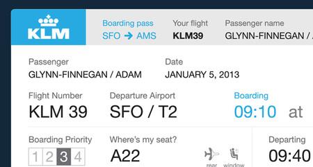 KLM Boarding Pass