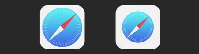 Safari iOS 7 espacio negativo
