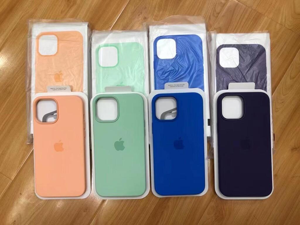 Los recientes colores de las fundas para los iPhone doce aparecen en alguna imagen en Twitter™