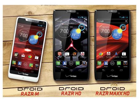 RAZR M, RAZR HD y RAZR HD MAXX, los nuevos buques Droid de Motorola