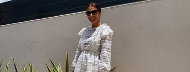 Paula Echevarría estrena el vestido blanco boho y romántico perfecto para lucir los días de entretiempo