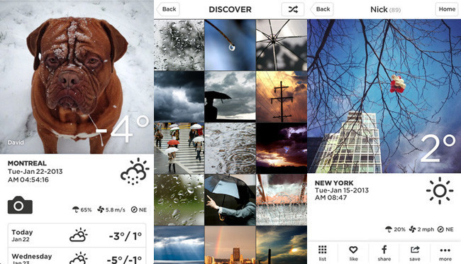 Redes sociales de fotografía - take weather
