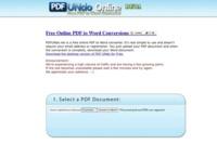 PDF Undo Online, conversor de archivos PDF a Word
