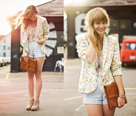 Moda en la calle: al trabajo con un blazer y unos shorts