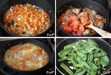 Paso a paso de la receta de pavo a la sidra y salteado de judías verdes