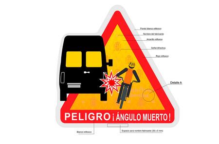 Nueva señal  voluntaria de advertencia de peligro de ángulos muertos de la DGT