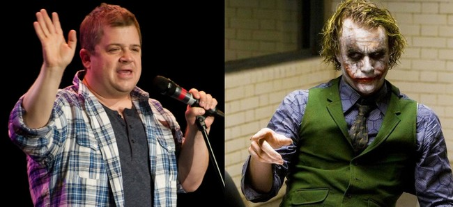 Patton Oswalt and Headh Ledger as the Joker