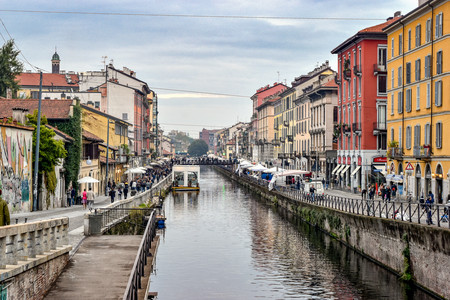Canales de Navigli Milán
