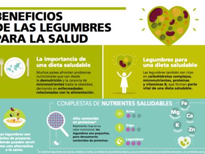 Conoce los beneficios de las legumbres con esta infografía