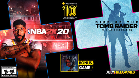 NBA 2K20 y Rise of the Tomb Raider entre los juegos de PlayStation Plus de julio de 2020