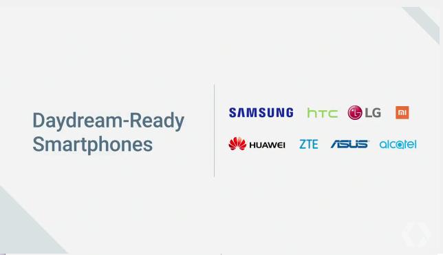 Daydream smartphones
