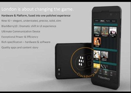 BlackBerry London, el primer teléfono con  BlackBerry 10