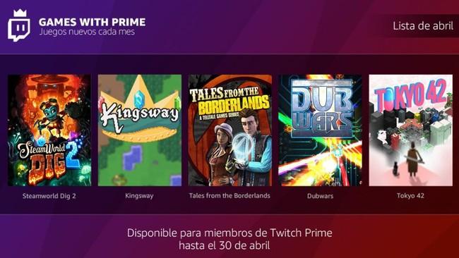 Ya puedes conseguir los juegos gratis de abril de tu Twitch Prime