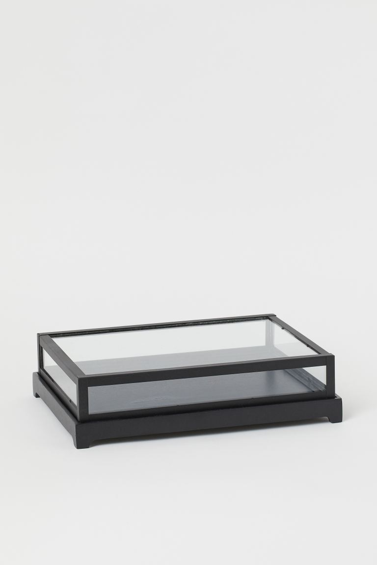 Vitrina baja de vidrio
