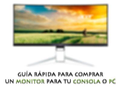 Te damos algunos consejos para buscar el monitor ideal para usar con tu PC o consola