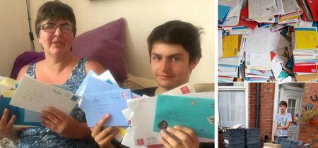 Al ver que su hijo con autismo se enviaba cartas a sí mismo por su cumpleaños pidió ayuda: ¡recibió más de 20.000 cartas!