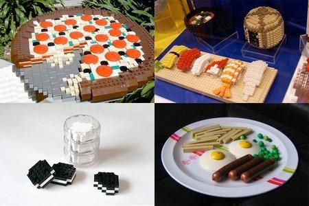 Hacer comiditas con piezas de Lego