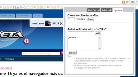 Cierra pestañas inactivas automáticamente en Chrome después de un tiempo