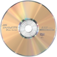 Disco DVD de JVC de doble capa que graba por una sola cara