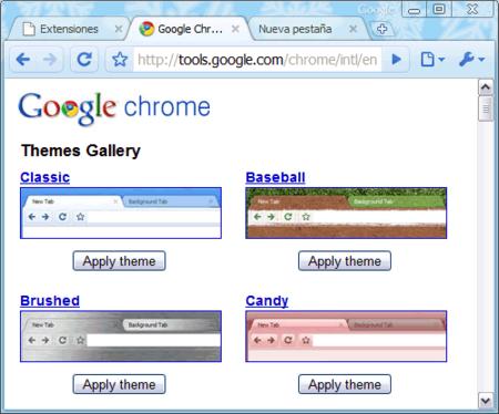 Abre la galería de temas para Chrome, y no todos duelen
