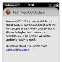 Palm Pre empieza a recibir la actualización a webOS 1.3.1