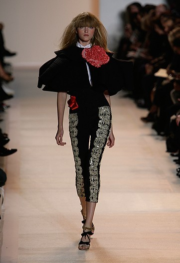 Christian Lacroix en la Semana de la Moda de París primavera-verano 2009