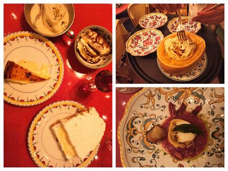 De Izquierda A Derecha Postres Tarta De Queso Helado De Pistacho Tiramisu Y Tarta De Limon Spaghetti Alla Carbonara Y Girella Alla Norma