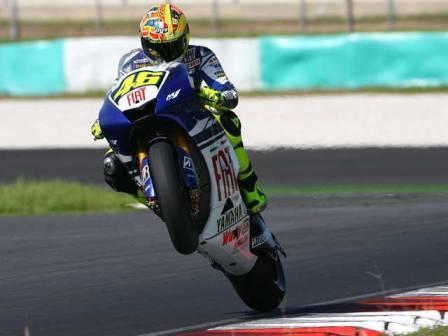 Valentino Rossi, el más rápido el primer día en Sepang