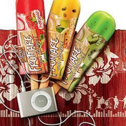 Imágenes de la promoción de Kibon y los iPod Shuffle