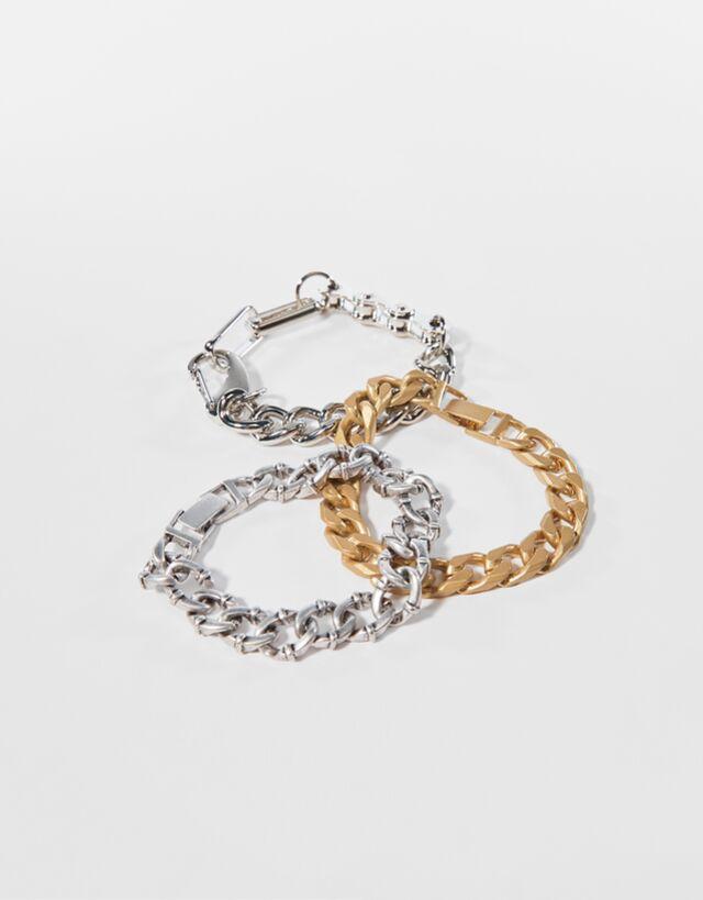 Set de pulseras con cadenas