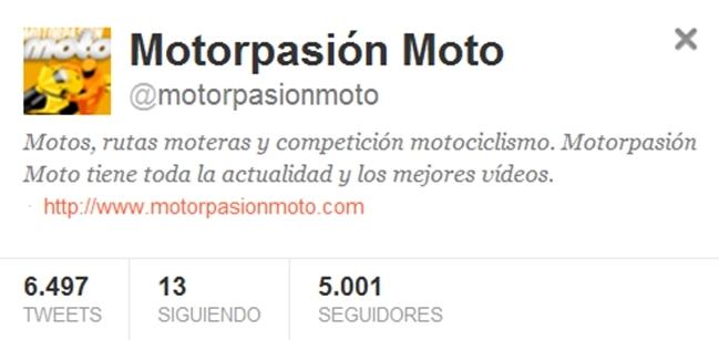 Twitter Motorpasión Moto