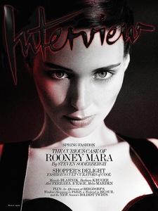 Rooney Mara se nos pone la mar de dramática en la portada de Interview Magazine