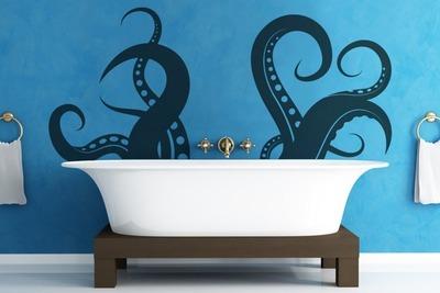 Un vinilo para ambientar tu baño en veinte mil leguas de viaje submarino