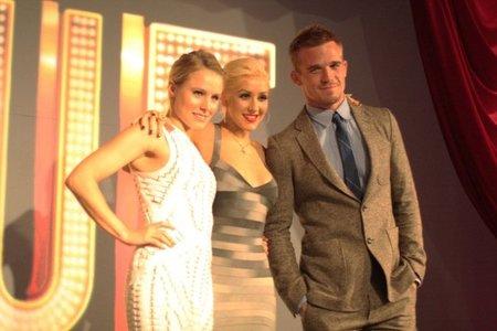 Christina Aguilera, Cam Gigandet y Kristen Bell presentan la película Burlesque