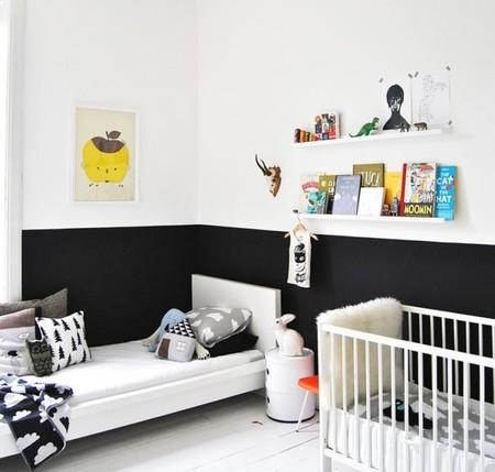 habitación-infantil-blanco-negro