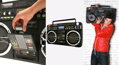 Altavoces retro iPod - radiocassette