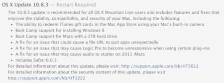 OS X Mountain Lion 10.8.3 ya disponible