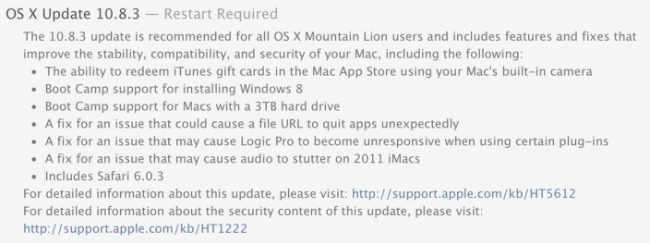 mac os x apple actualización 10.8.3 mountain lion