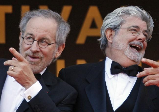 Steven Spielberg y George Lucas en Cannes