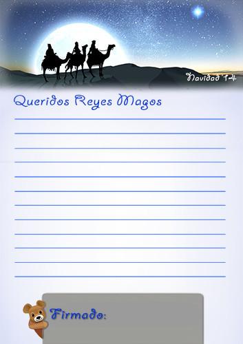 Carta Reyes Magos 2014
