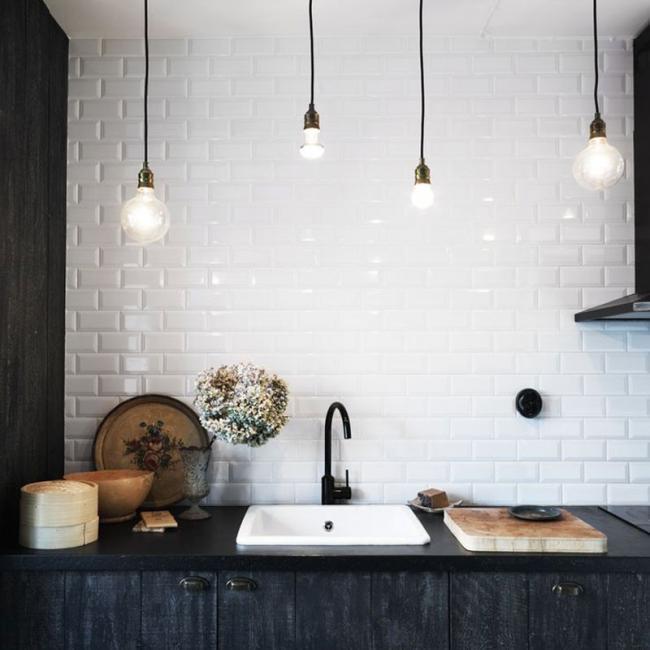 Baldosas Baño Negras:Quieres saber cuál es el mosaico de moda para tu baño o cocina y