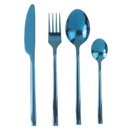 Juego De 24 Cubiertos De Metal Azul Turquesa 1000 14 0 193151 1