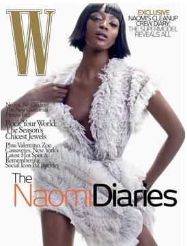 Naomi Campbell para la revista W