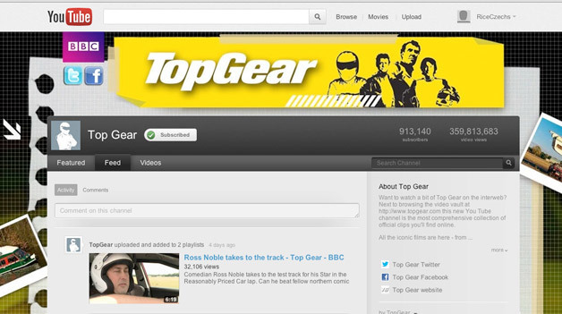 BBC top gear en youtube