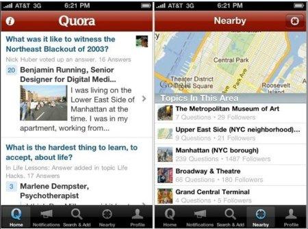 Quora lanza su aplicación para iPhone