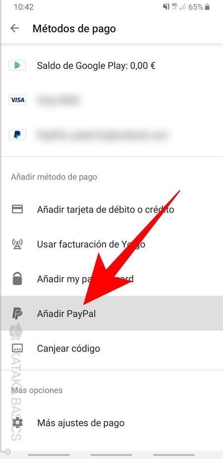 Anadir Paypal
