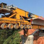 Esta monstruosa máquina de 580 toneladas construye puentes como si estuviese volando
