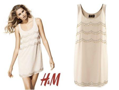 HM vestido crema